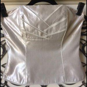 white house black market 4 strapless blouse
